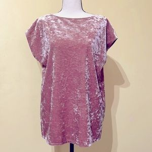 Vince Camuto Velvet Batwing Sleeve Peach Top SizeS